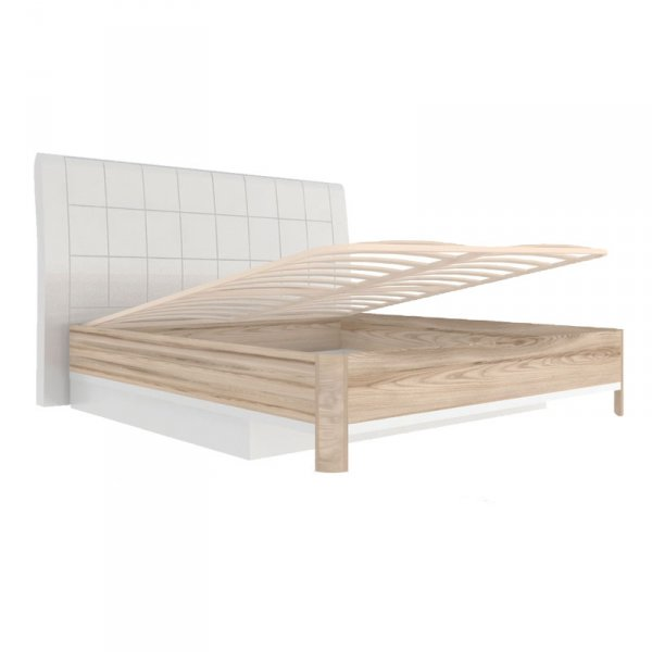 Кровать 1400 «Марта» (с подъемным механизмом и мягкой спинкой)